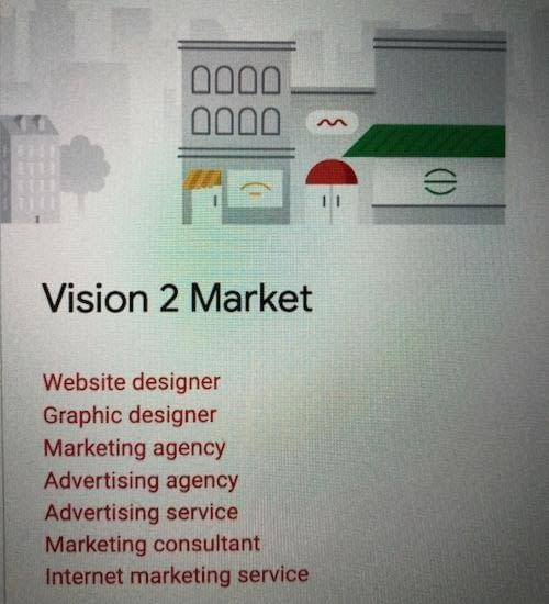 Google My Business Categories | Vision 2 Market | Advertising Agency