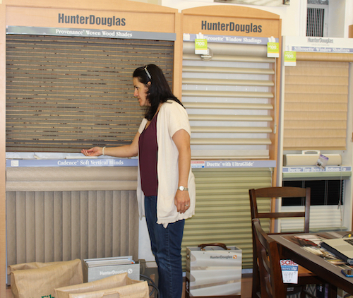 Catherine Flores On Location At A Hunter Douglas Store